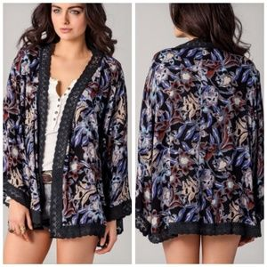 FREE PEOPLE Snap Out Of It Bocca Kimono Cardigan